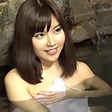 露天風呂にいたリア充カップルのかわいい彼女をナンパし寝取りハメ!!