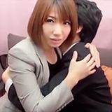 美人上司が見せる恥じらい顔♪100万¥交渉に素人さん男女が一線超えて筆おろしH!