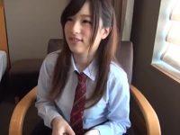 めっちゃ可愛いGカップのパイパン制服女子校生を生でパコりまくって無断中出し!
